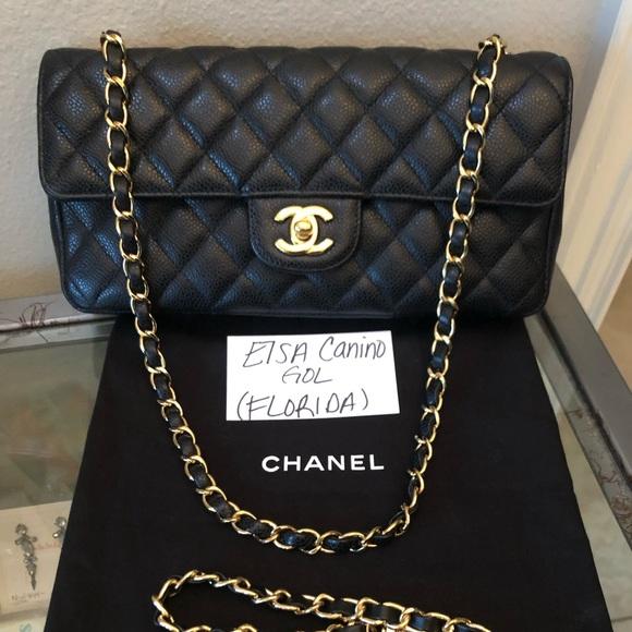 c446e5018b8a CHANEL Bags | Black Caviar East West Flap Bag Ghw | Poshmark
